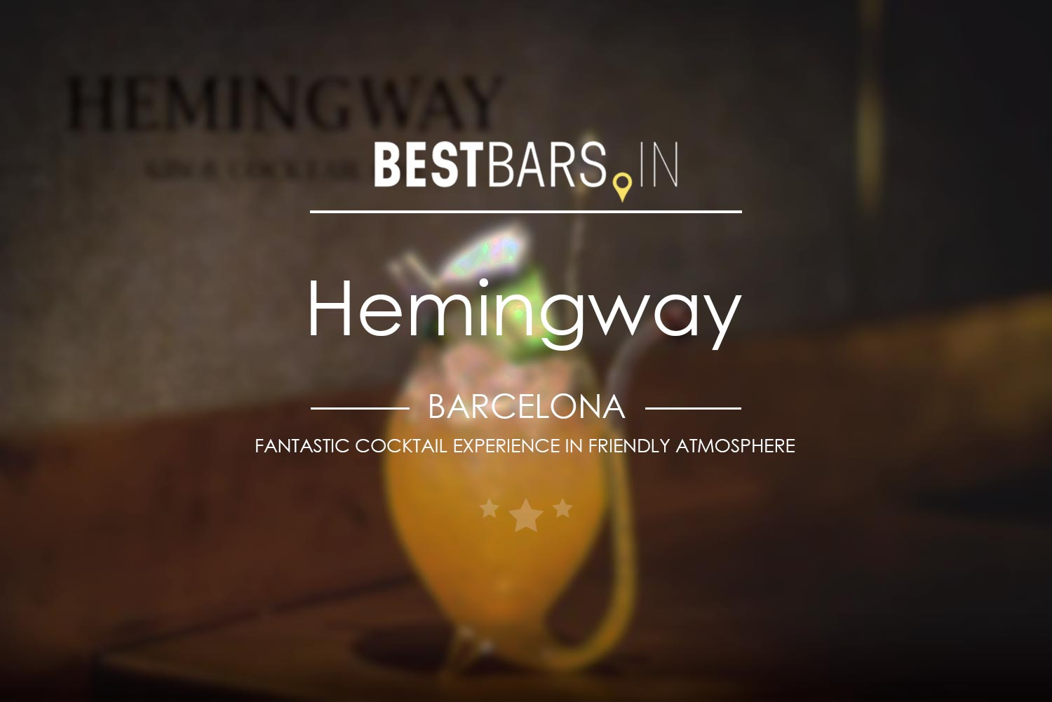 Hemingway Cocktail Bar, Barcelona