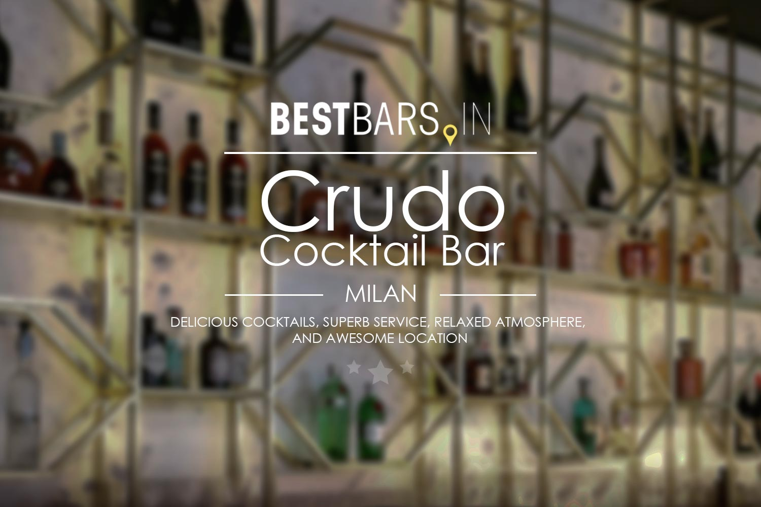 Crudo Cocktail Bar New Trendy Cocktail Lounge In Milan