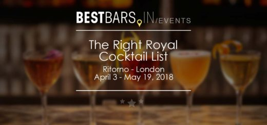 The Right Royal Cocktail List