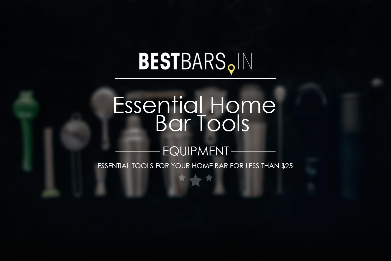 Essential home bar tools cover